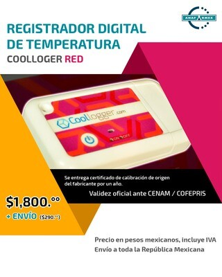 Registrador Digital de Temperatura (Rojo)