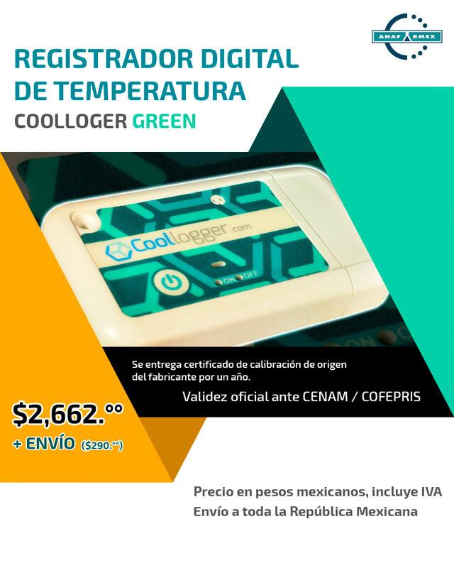 Registrador Digital de Temperatura (Verde)