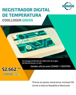 Registrador Digital de Temperatura (Verde)