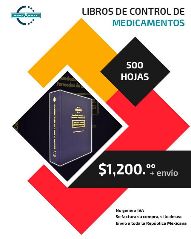 Libro de Control de Medicamentos (500 hojas)