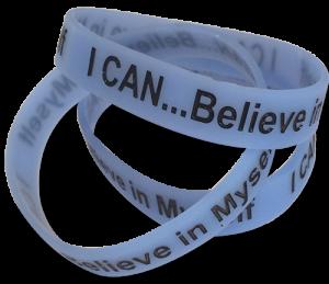 I CAN Believe in Myself glow-in-the-dark Bracelet