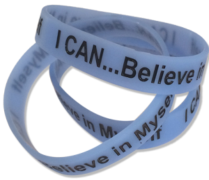 I CAN Believe in Myself glow-in-the-dark Bracelet