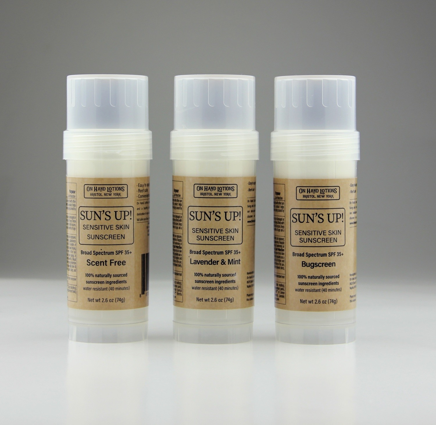 Sun's Up! Sunscreen Stick - .7 oz or 2.6 oz - 4 pack - Wholesale