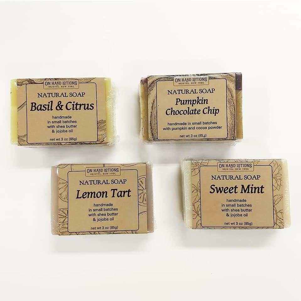 Fall/Winter '18 Soap & Shampoo Bars: Basil & Citrus, Lemon Tart, Pumpkin Chocolate Chip, Sweet Mint 01970