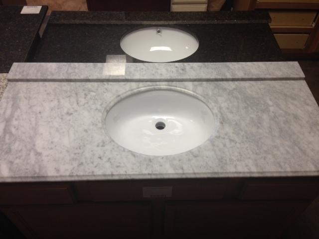"""Cararra White Granite 49"""" vanity top 750254"""