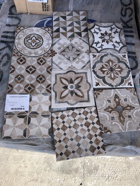 Brown decorative tile 7.9x7.9 00037