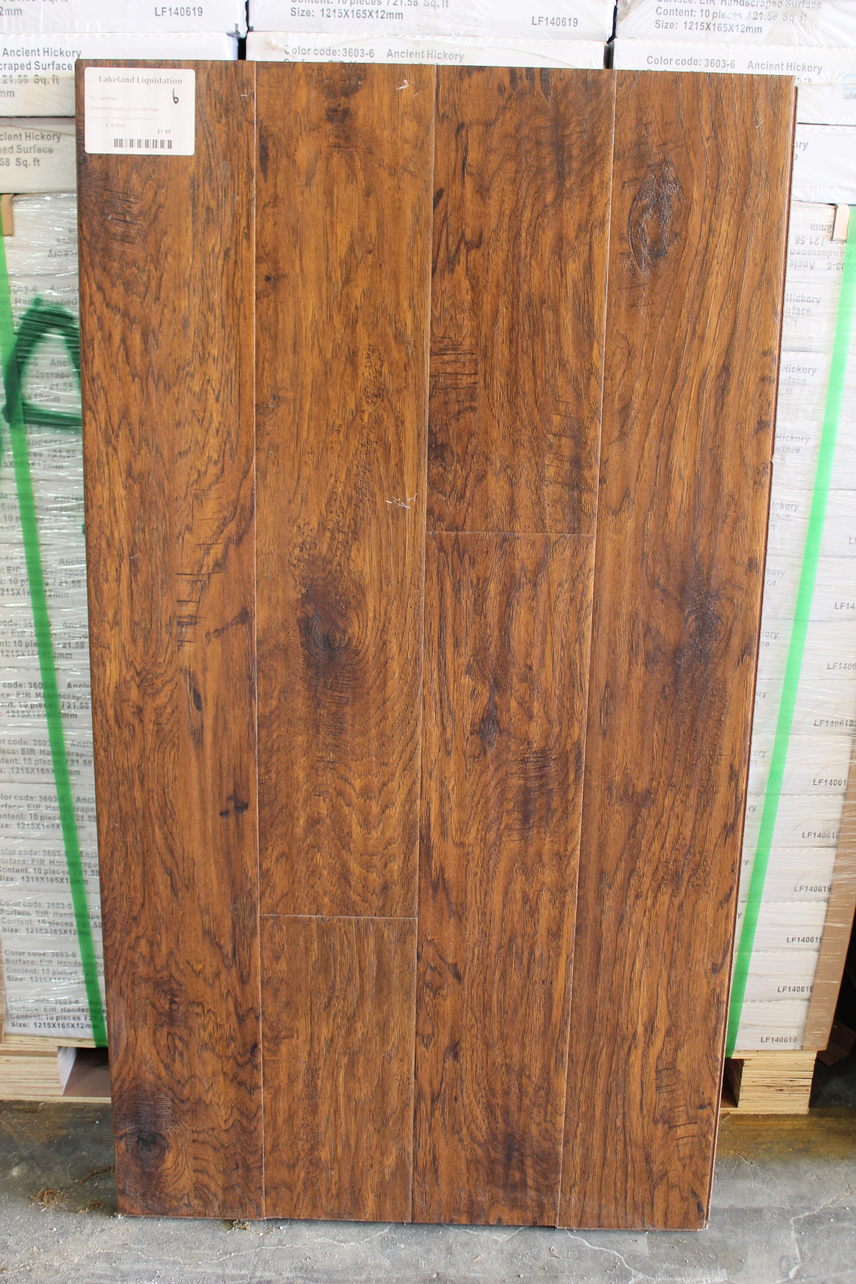 Ancient Hickory Laminate 12mm with the pad attached 300040