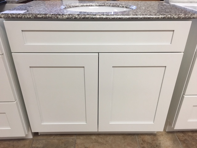 "White Shaker 30"" vanity with 2 doors 750301"