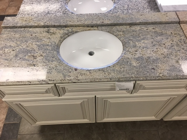"Kashmir White Granite 49"" vanity top 750260"