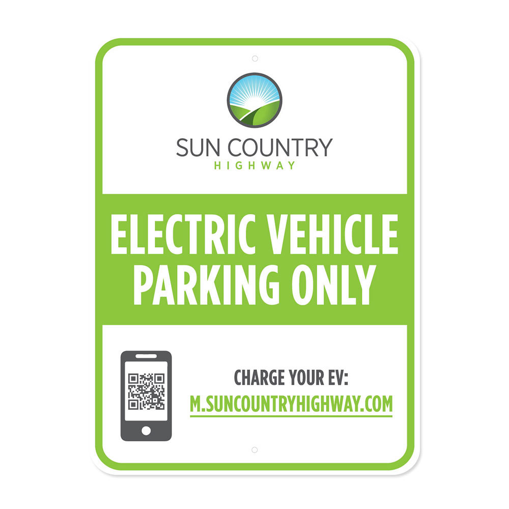 EV Parking Sign - English