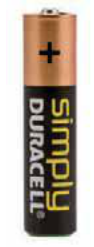 "BATTERIE DURACELL SIMPLY MINI STILO TIPO ""AAA"""
