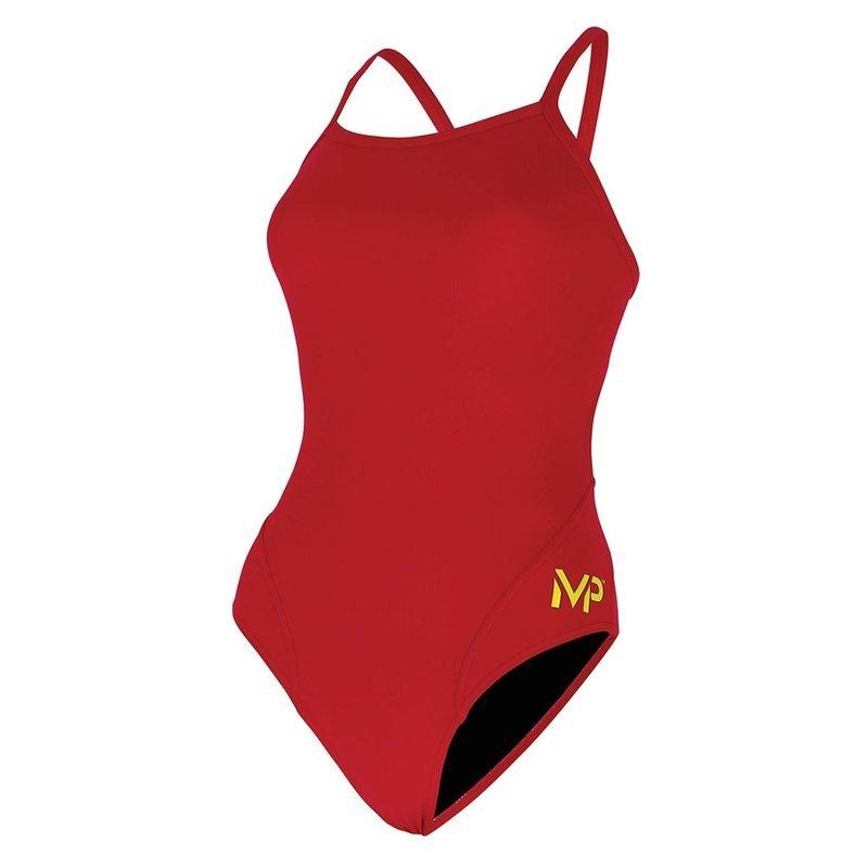 AQUA SPHERE MP Team Suit - Mid Back - Solid - Red