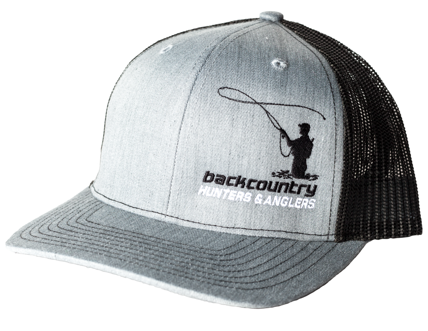 Angler Hat in Grey/Black