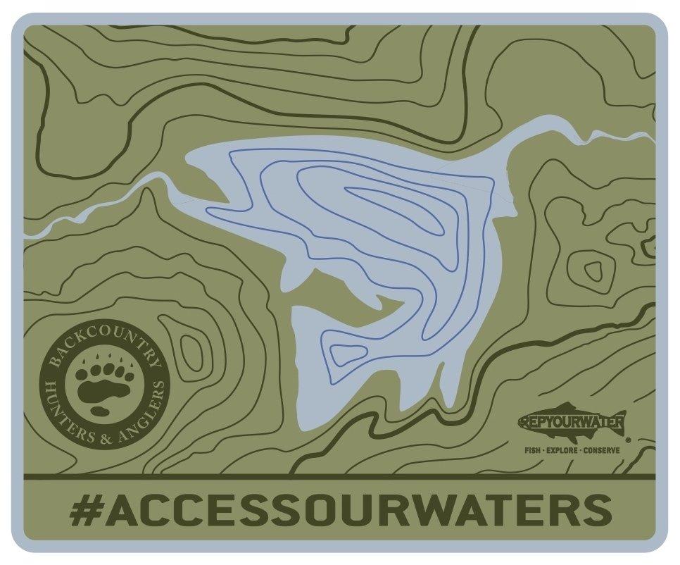 #ACCESSOURWATERS Sticker