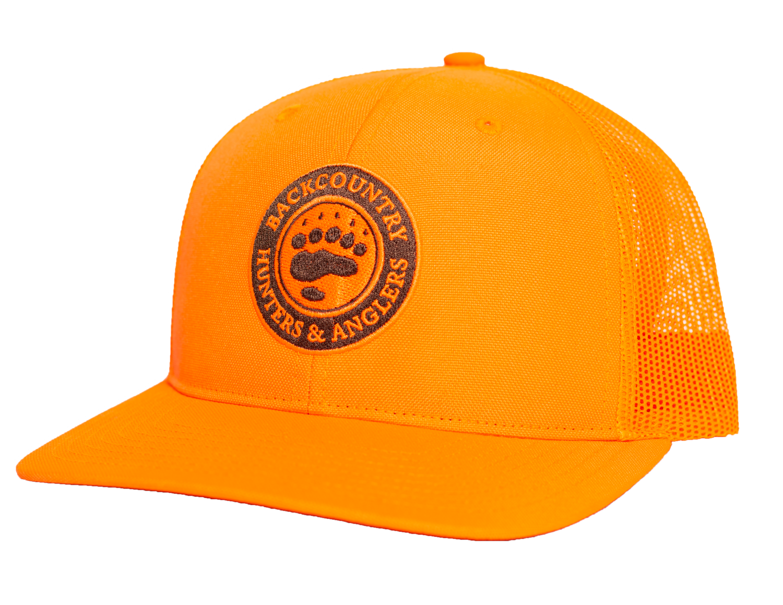 Blaze Orange Mesh Back Hat