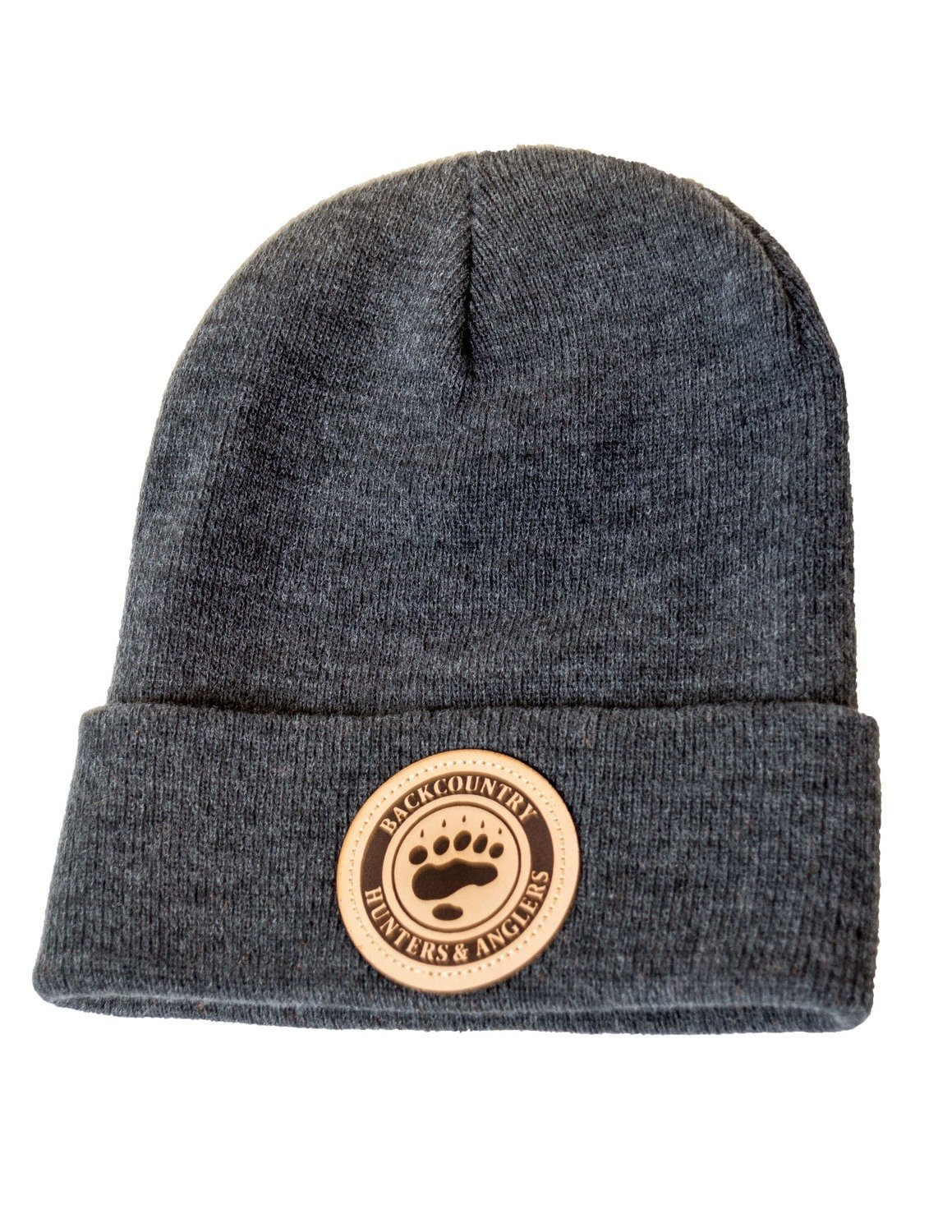 Leather Patch Logo Beanie