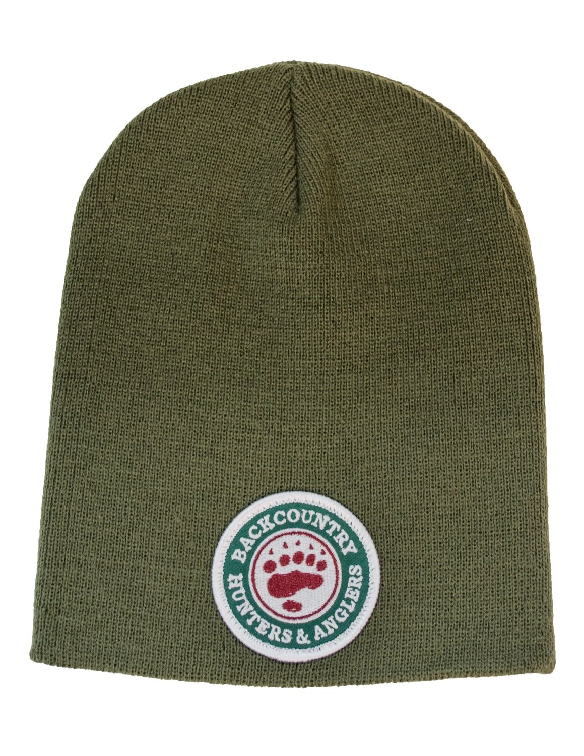 Fitted Green Knit Beanie