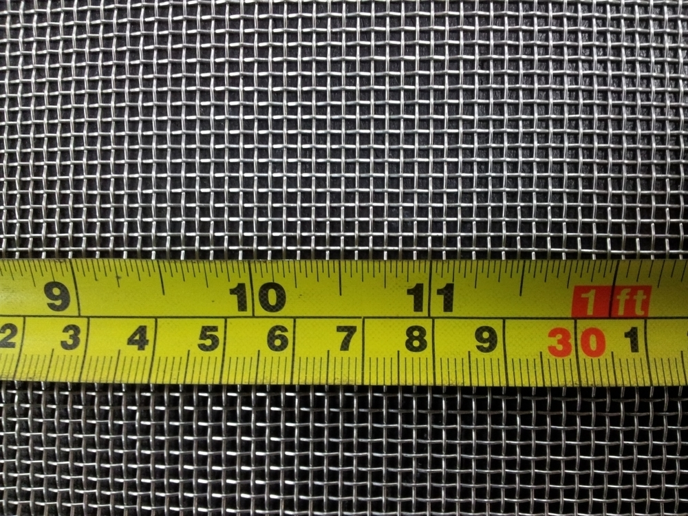 Stainless woven 12 mesh: 1.49mm aperture SS12M23G
