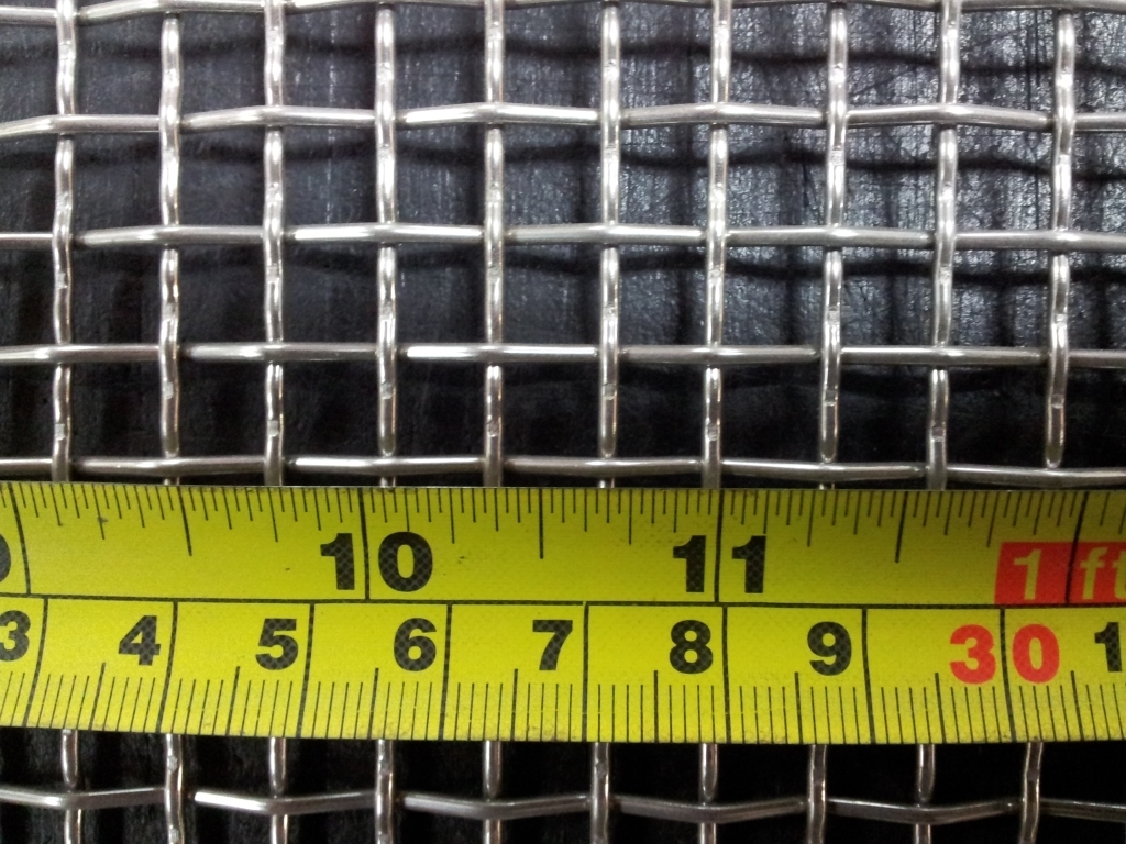 Stainless woven 3 mesh: 6.87mm aperture SS3M16G
