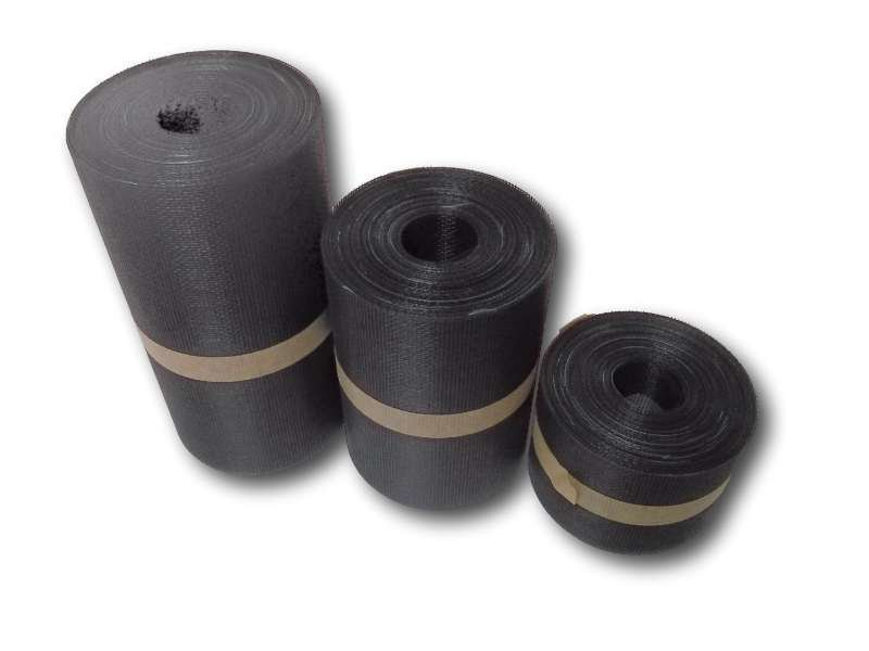 Soffit mesh, black PVC-coated fibreglass 30m roll FGSM16M105GM