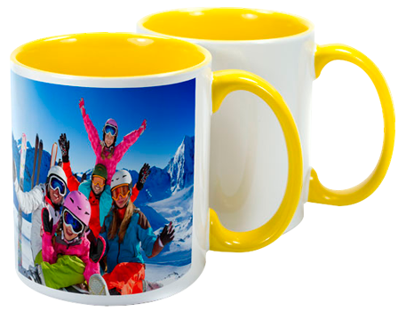 Two Tone Yellow Sublimation Mug