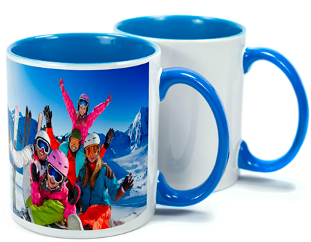 Two Tone Light Blue Sublimation Mugs