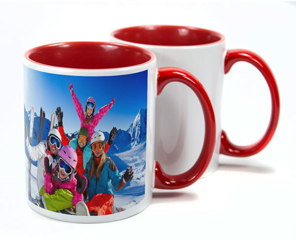 Two Tone Red Sublimation Mugs
