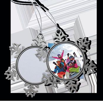 Snowflake Ornament - Pewter