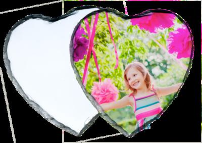 Photo Slate 14 x 14cm Heart