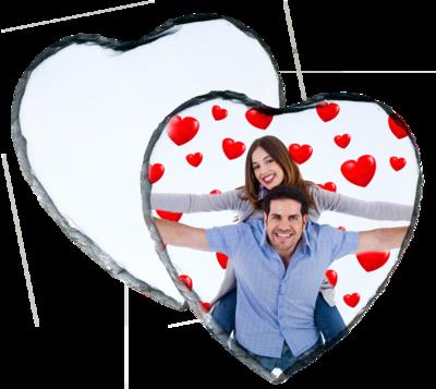 Photo Slate  20 x 24cm Heart