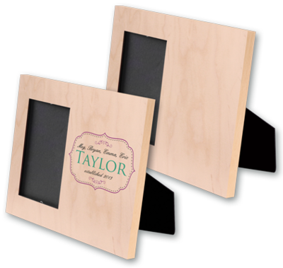 Natural Wood Offset Picture Frame