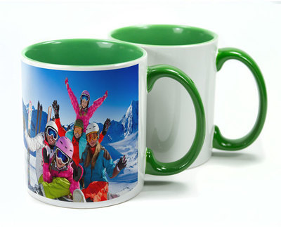 Two Tone Green Sublimation Mugs