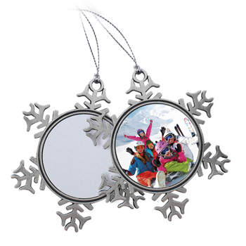 Snowflake Ornament - Pewter