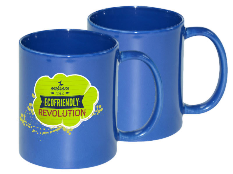 11oz Medium Blue Mug