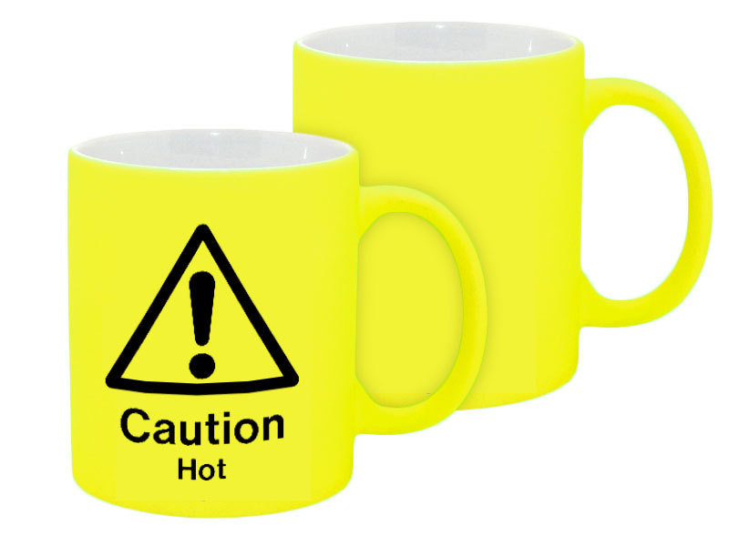 11oz Neon Yellow Mug