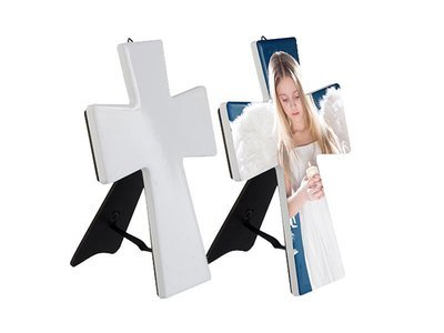 Ceramic Cross with Easel