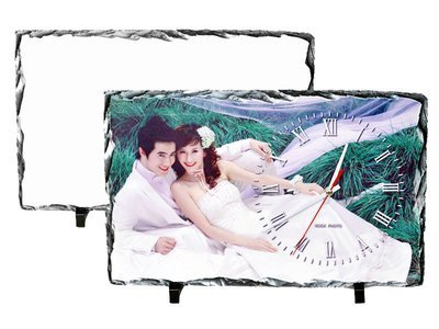 Clock Photo Slate  25 x 40cm