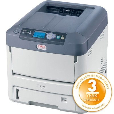 OKI Pro 7411WT A4 White Toner Printer