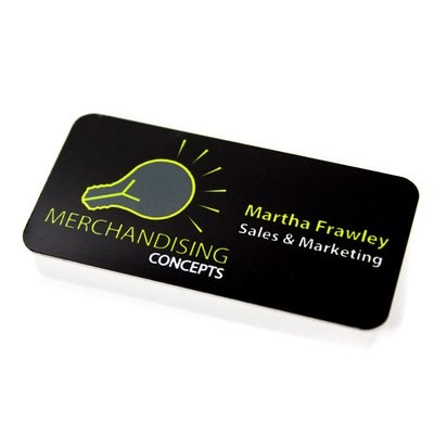 Aluminium Name Badge 38 x 76mm