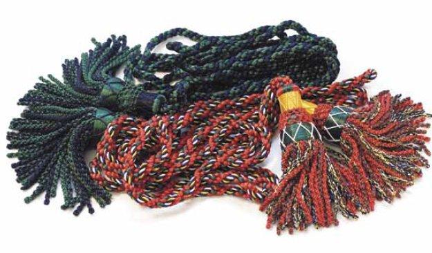Silk Pipe Cords, Multi Colour 00082