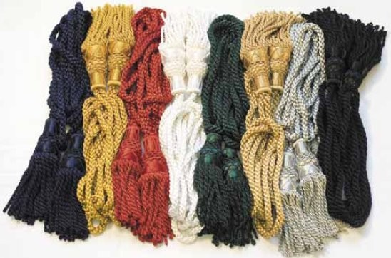 Silk Pipe Cords, Single Colour
