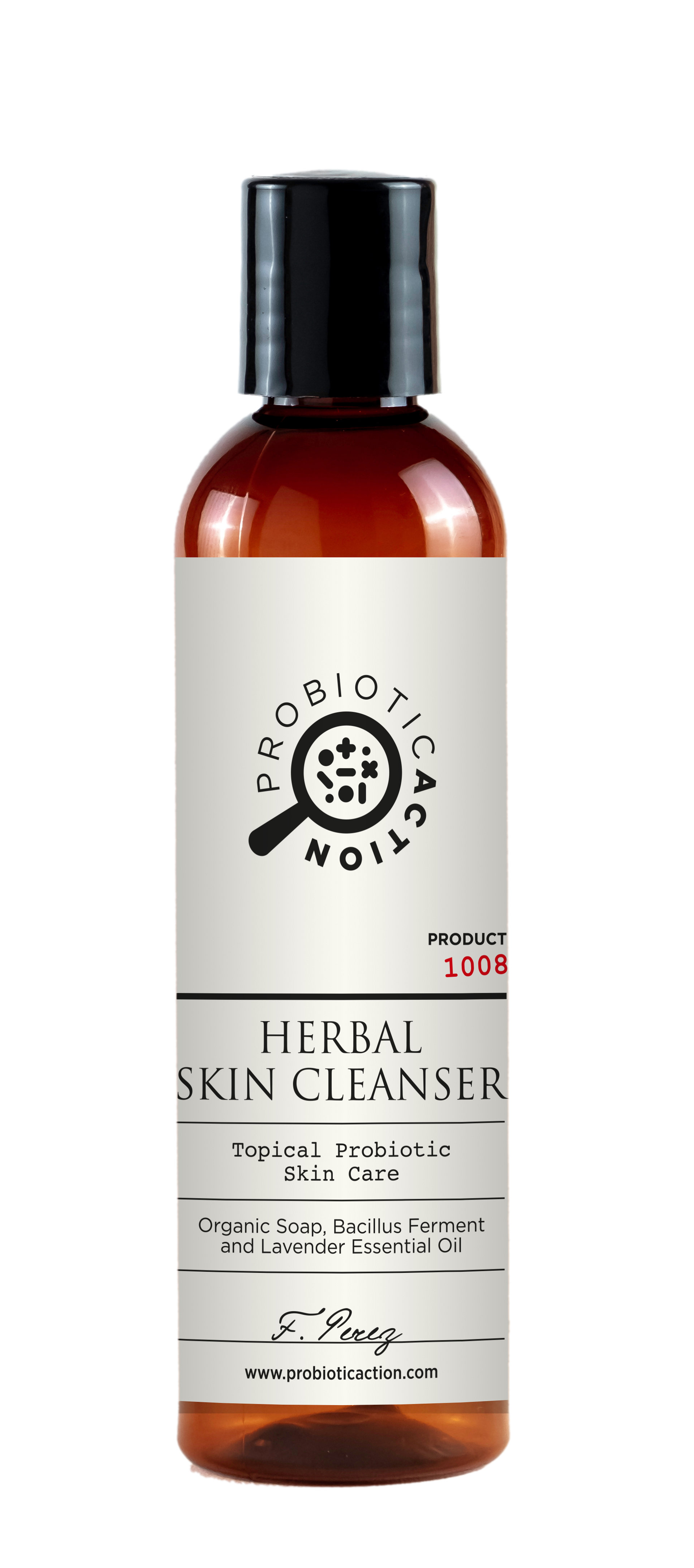 Pack of 2 - Herbal Skin Cleanser - Topical Probiotic Skin Care. Deeply Purifying. Totally Organic. 1008-P2