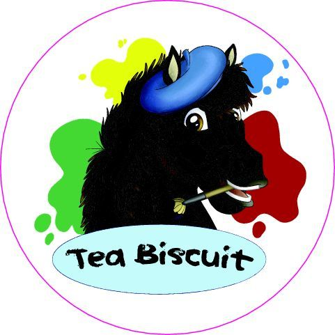 Round Tea Biscuit Sticker