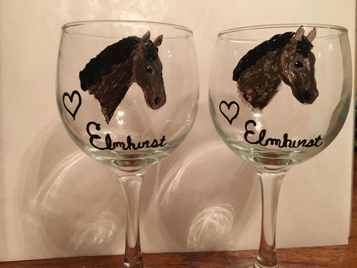 Elmhurst Wine Glass With Name