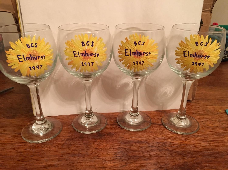Elmhurst Wine Glass Sunflower