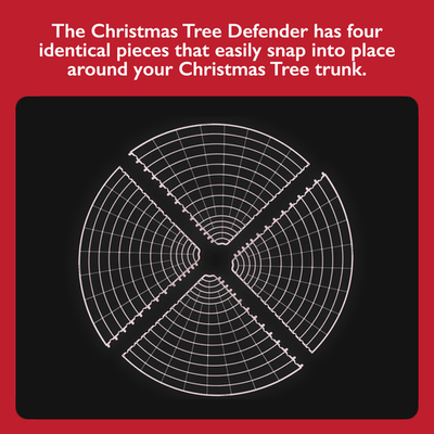 Christmas Tree Defender/Potted Plant Protector (White)
