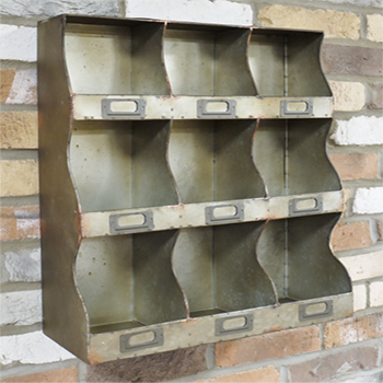 The Bobby Industrial Metal Pigeon Hole Shelf Unit