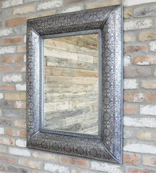 Embossed Wall Mirror