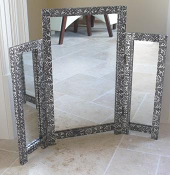 Embossed Triple Mirror