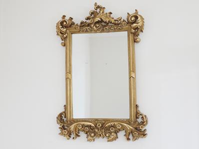 Ornate Gold Finish Mirror